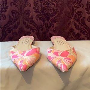 Talbots Floral Heeled Slides
